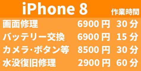 Phone8 交換修理