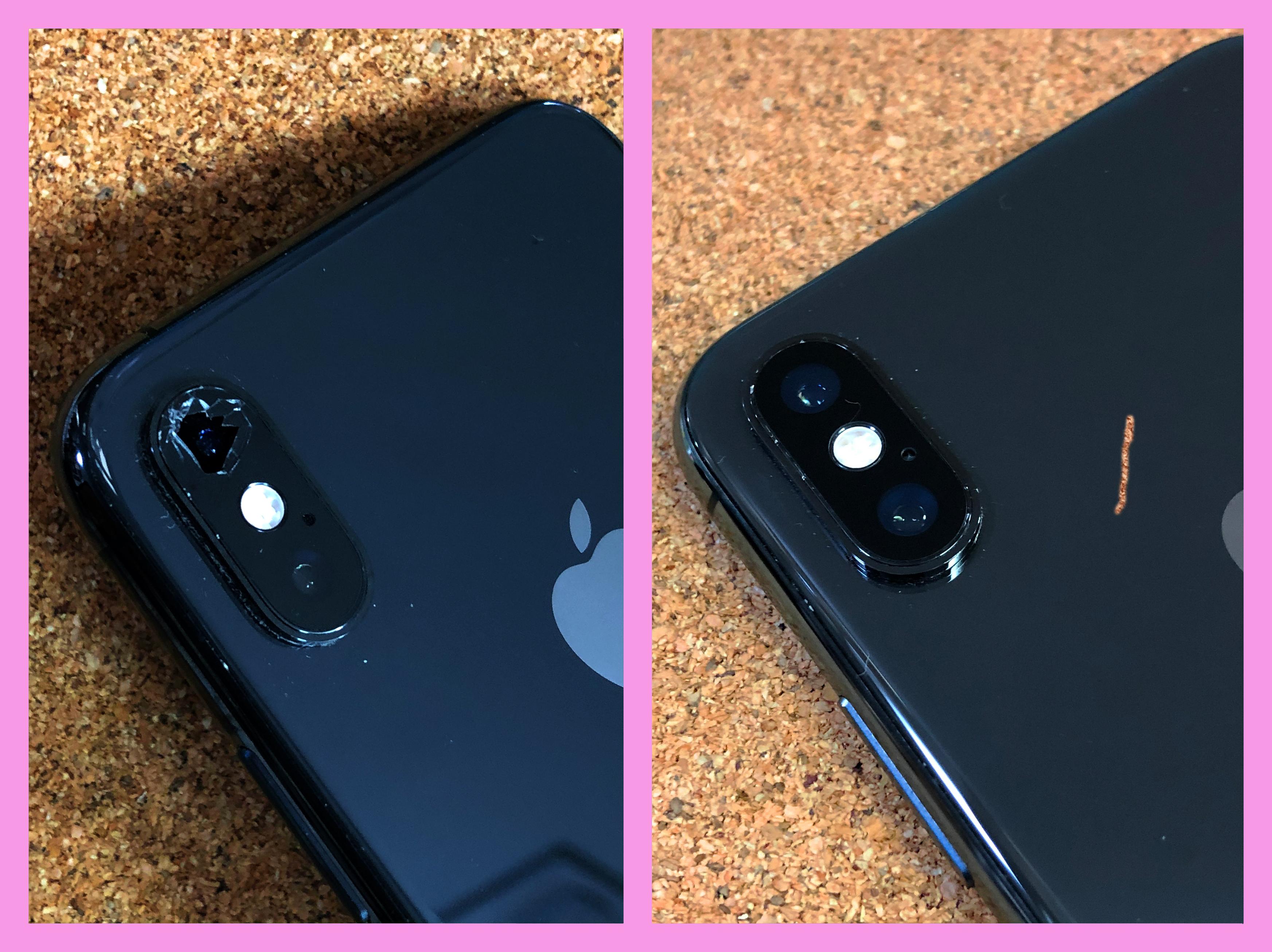 【iPhoneXS レンズ割れ 山梨県 甲府市】iphoneXS カメラレンズ破損 割れ甲府市よりお越しのお客様です